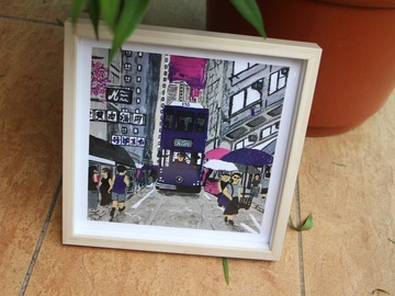 : Hong Kong Tram (Purple) - Art Print