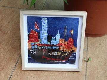 : Junk boat - Art Print