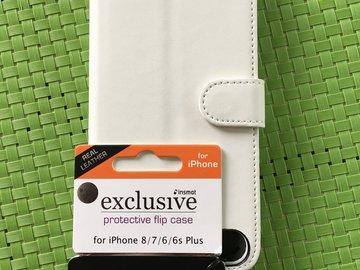 Myydään: iPhone 8/7/6 Plus flip case (Real Leather)