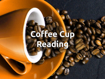 Selling: Coffee cup reading.