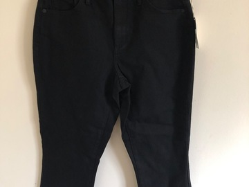 Make An Offer: Women's High-Rise Kick Boot Crop Jeans Black Wash Size 8 and 10