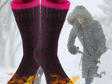 Buy Now: (300) Winter Womens Warm Thermal Heated Crew Socks