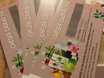 Vente: Chèques Aroma Zone (60€)