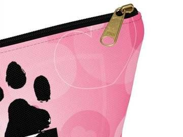 Selling: Love Cosmetic Bag, Love Makeup Bag, Paw Print, Toiletry Bag, Penc