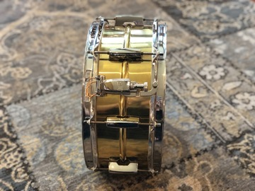 """Selling with online payment: Pearl Sensitone Beaded Brass snare drum 6.5"""" x 14"""""""
