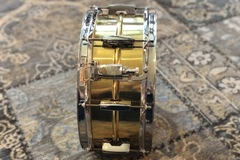 "Selling with online payment: Pearl Sensitone Beaded Brass snare drum 6.5"" x 14"""