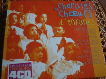 """Vente: Coffret 4 CD """"Chorales et choeurs d'enfants"""""""