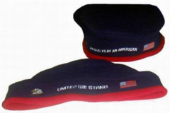 "Buy Now: Patriotic Beret ""Proud to be an American"" and ""United We Stand"" –"