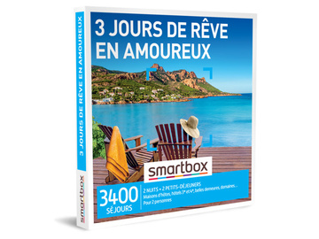 """Vente: Smartbox """"3 jours de rêve en amoureux"""" (119,90€)"""