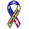 Buy Now: Support Our Troops Patriotic 8″ Ribbon Magnet Item#222