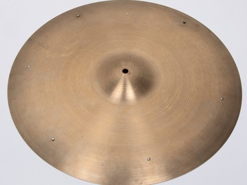 """Selling with online payment: Zildjian 50's 20"""" Ride with rivets"""