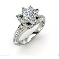 Buy Now: 1.97 ct Round Cut Rose Petal Diamond Engagement Ring 14k Solid Wh