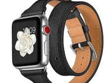 Buy Now: Leather Double Wrap Replacement Band for Womens Apple iWatch