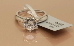 Buy Now: 2 CT ROUND CUT DIAMOND SOLITAIRE ENGAGEMENT Ring White gold Toned