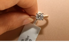 Buy Now: Solitaire Diamond Engagement-Ring 1ct 18k White Gold Toned Round