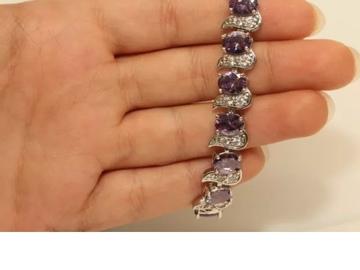 Buy Now: Womens Diamond Bracelet 14K White Gold Finish 8 ct