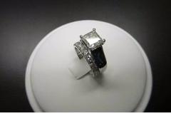 Buy Now: 1.50 Ct Princess Cut D/VVS1 Diamond Bridal Set Engagement Ring 14
