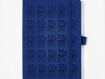 : Lucky Cat Notebook - Blue