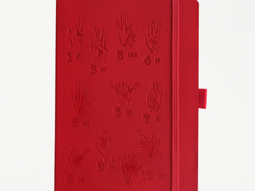 : Finger Counting Notebook - Red