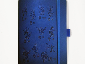 : Finger Counting Notebook - Blue