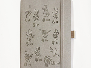 : Finger Counting Notebook - Taupe