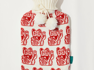 : Lucky Cat Hot Water Bottle