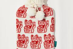 : Lucky Cat Hot Water Bottle