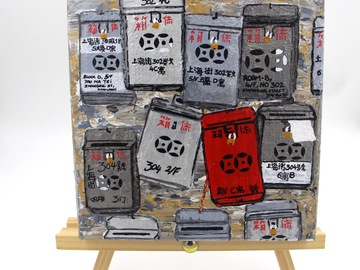 : Acrylic Painting : Mailboxes
