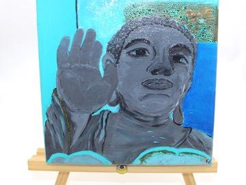 : Acrylic Painting : Tian Tan Buddha