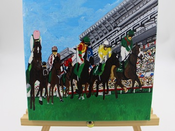 : Acrylic Painting : Happy Valley Race Course