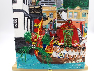 : Acrylic Painting : Dragon Boat Race