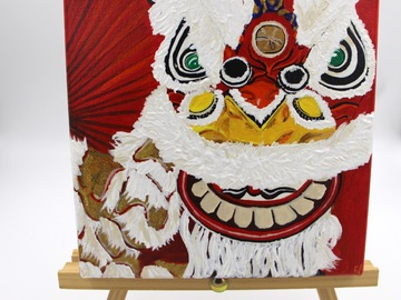 : Acrylic Painting : Lion Dance
