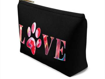 Selling: Paw Print Love Make-up Bag