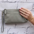 Products: MONICA WALLET - GREY LEATHER