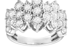 Buy Now: 1 ct Diamond Honeycomb Ring in Sterling Silver , IGI Certified