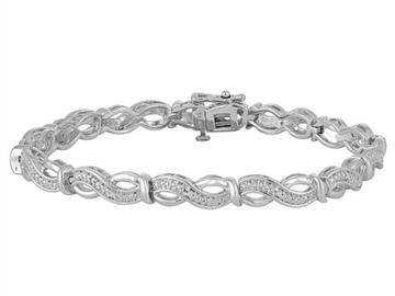 Buy Now:  1/10 CT, T.W, Diamond Sterling Silver Bracelet
