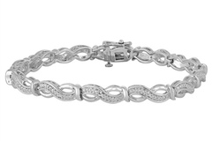 Buy Now:  1/10 CT, T.W, Diamond Sterling Silver Bracelet