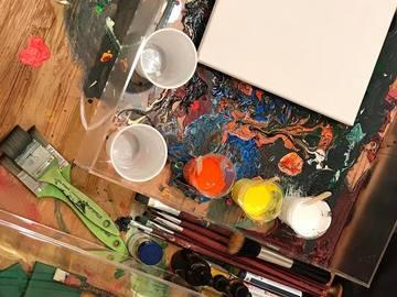 Workshop Angebot (Termine): Fluidart/ Pouring oder auch Acrylfliesstechnik für Einsteiger
