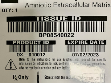 Selling with online payment:  8 Amniotic Membranes Dry from Integra Sealed boxes
