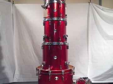 SOLD!: SOLD!  Sonor Force 3007 Special Edition 7 pc drum set red sparkle