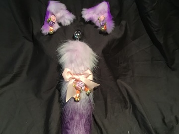 Selling with online payment: Purple Kitsune /fox Pet play set