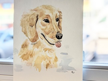 Selling: Custom Watercolor Pet Portraits