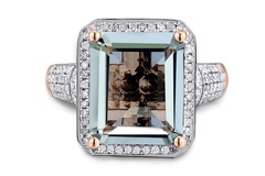 Buy Now: Ring For Women Emerald Cut Green Gemstone 100% Natural Amethyst D