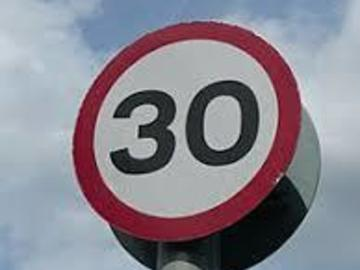Material For Sale: Used 30 mph Speed Limit Sign