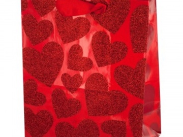 Buy Now: Set of 488 Bulk Lot Small Red Glitter Hearts Gift Bag