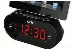 Buy Now: Easy Dok Alarm Clock with Dual Charging Ports and Cradle FM Radio