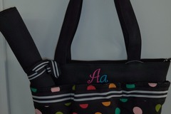 Buy Now: 19 - EMBROIDERED INITIAL DIAPER BAGS WITH CHANGING PAD