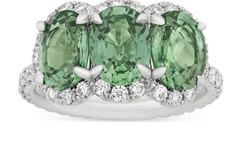 Buy Now: UNTREATED GREEN SAPPHIRE RING, 4.69 CARATS
