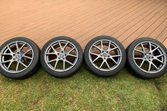 Selling: Enkei M52 18X8 +45 with 225/40R-18 Michelin X-Ice Xi3 (NY)
