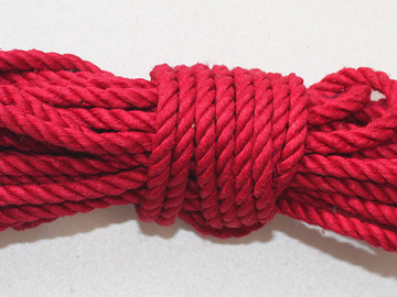Selling with online payment: 8 metres red hemp rope 7mm thick